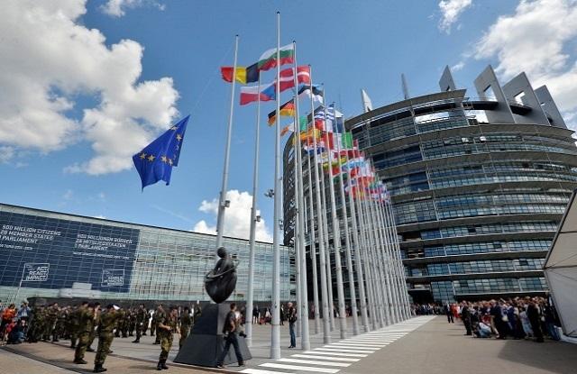 Az Európai Parlament épülete. (Fotó: AFP)