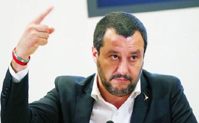 Matteo Salvini olasz miniszterelnök-helyettes (Fotó: Reuters)