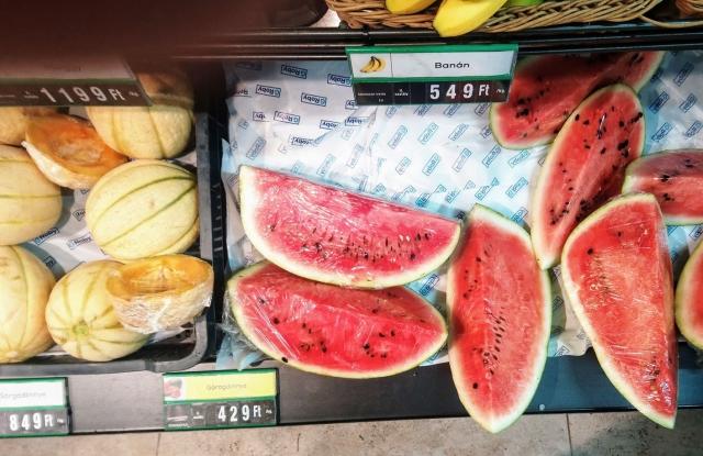 Görögdinnye Panamából a G'Robiban (Fotó: Privátbankár.hu)
