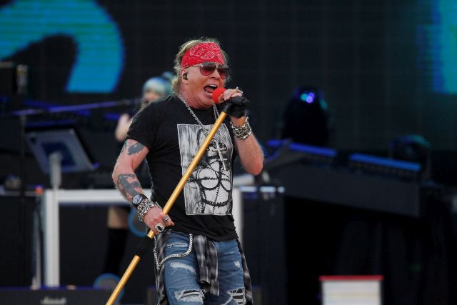 Singer Axl Rose of US rock band Guns N' Roses performs during the Download Festival in Madrid, Spain, 29 June 2018. EPA/Victor Lerena