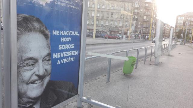 Soros Györgyöt lejárató plakát (Kép forrása: Valkai Nikoletta)