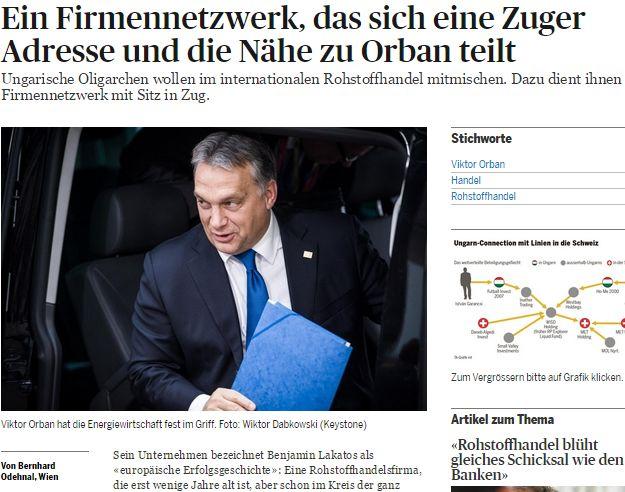 Magyar oligarchákról ír a Tages Anzeiger