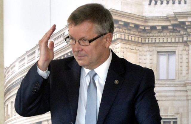 Matolcsy György MNB-elnök a növekedési hitelprogramjáról tartott konferencián, 2013-ban. MTI Fotó: Máthé Zoltán