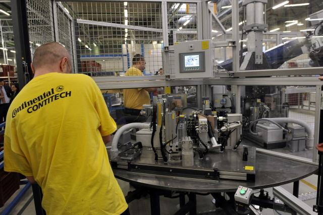 A ContiTech Fluid Automotive Hungária Kft. régi csarnoka a cég váci telephelyén. MTI Fotó: Kovács Attila