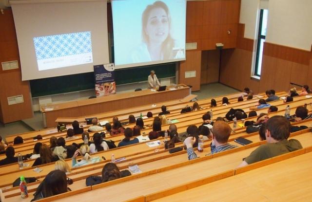 A Miskolci Egyetem egyik előadója. Kép forrása: uni-miskolc.hu