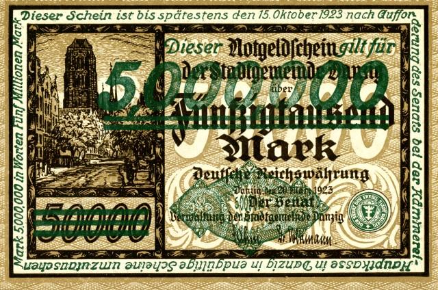 1923, német szükségpénz (Wikimedia Commons)