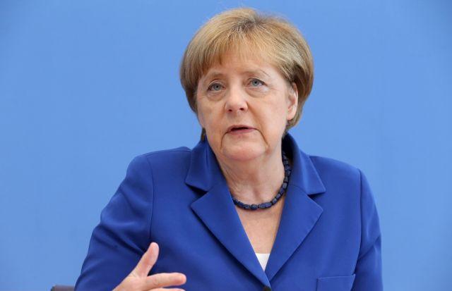 Angela Merkel német kancellár sajtótájékoztatót tart Berlinben 2016. július 28-án.Forrás: MTI/EPA/Kay Nietfeld