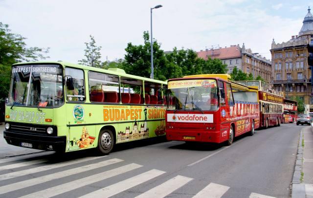 Városnéző buszok az Erzsébet téren. Kép forrása: MTI