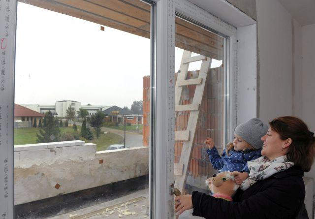 Egy készülő ház Debrecenben. (Kép forrása: MTI)