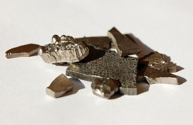 Kobalt. (Kép forrása: Wikipedia)