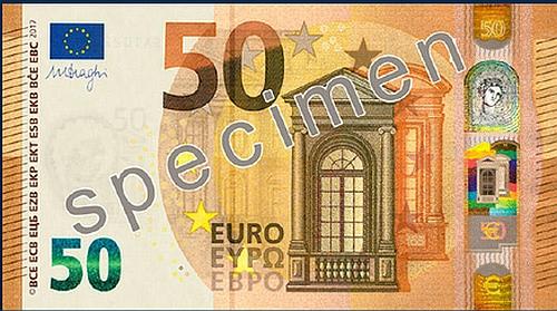 Ilyen az új 50 eurós.