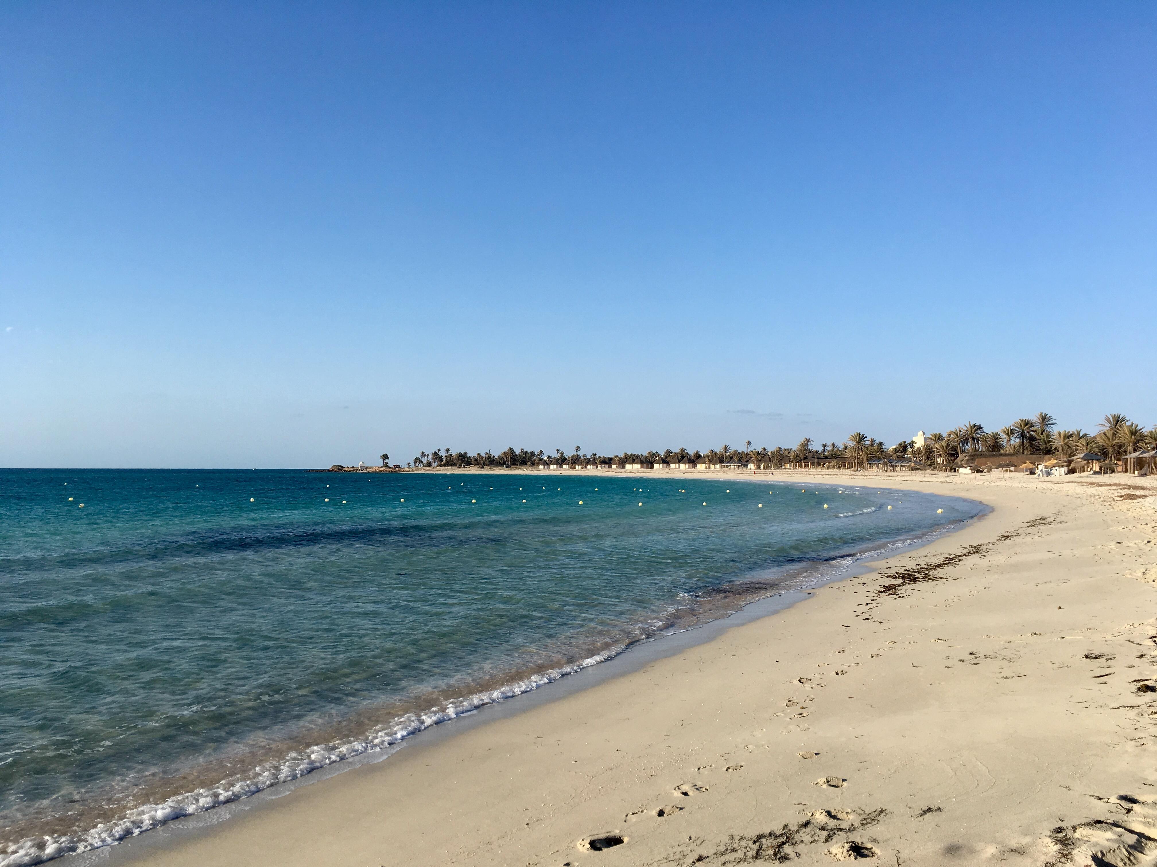 A djerbai tengerpart (Fotó: Böjte Csenge)