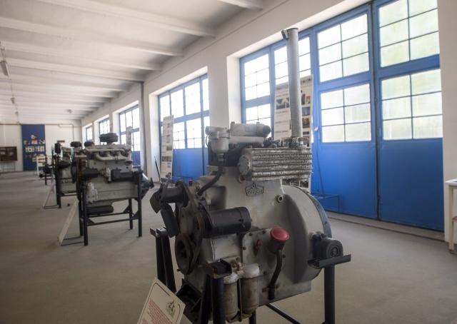 Csepel DT-213c típusú dízelmotor a szigetszentmiklósi ipari parkban kialakított gyártmánymúzeumban. Hamarosan csak a múzeumban találkozunk a technológiával.MTI Fotó: Illyés Tibor