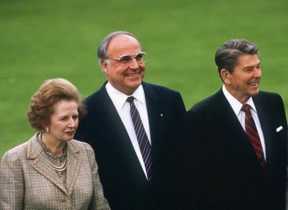 A kommunizmust megrengető trojka, Margaret Thatcher, Helmut Kohl, Ronald Reagan