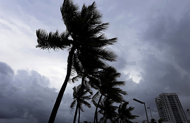 Irma közeleg Puerto Rico felé. EPA/Thais Llorca
