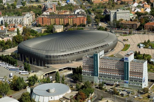 A Papp László Budapest Sportaréna és a Danubius Hotel Arena (korábbi Hotel Stadion) épületei a főváros XIV. kerületében. MTI Fotó: H. Szabó Sándor