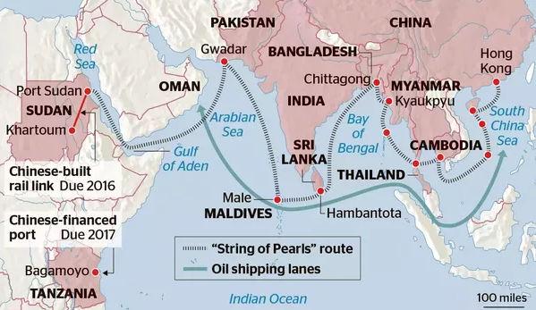 A kínai 'gyöngysor' az Indiai-óceánon