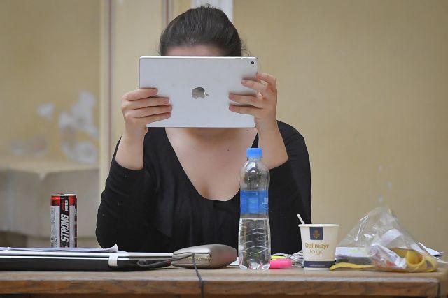 Hallgató a Debreceni Egyetemen (MTI Fotó: Czeglédi Zsolt)