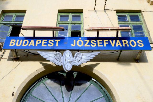 Budapest - Józsefváros felirat a Józsefvárosi pályaudvar épületén még 2013-ban(MTVA Fotó: Váli Miklós)