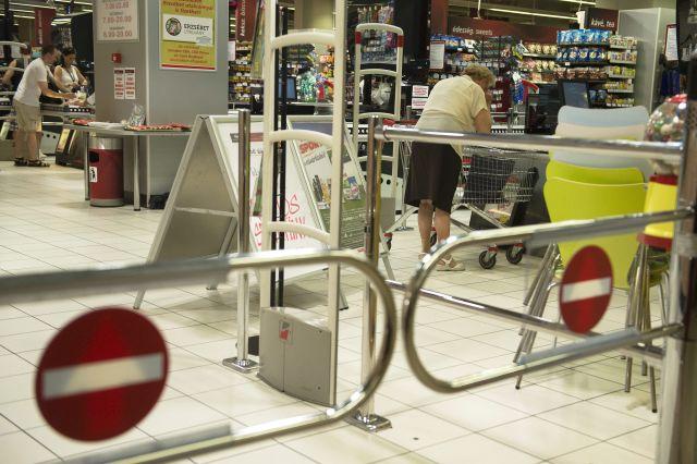 CBA üzlet egy budapesti bevásárlóközpontban (Fotó: MTI Fotó, Koszticsák Szilárd)
