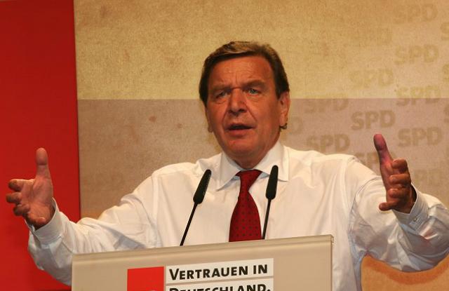 Gerhard SchröderFotó: wikimedia Commons