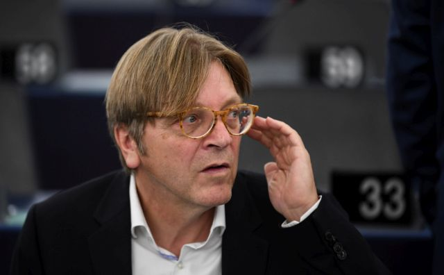 Guy Verhofstadt, leader of the ALDE Liberal group at the European Parliament, during the plenary session at the European Parliament in Strasbourg, France, 11 September 2018. EPA/PATRICK SEEGER