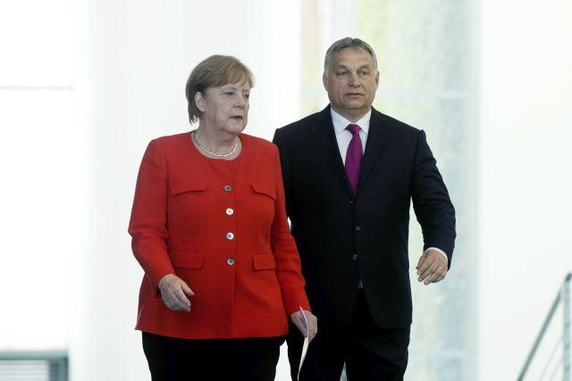 Orbán Viktor és Angela Merkel Berlinben, 018. július 5. forrás: Koszticsák Szilárd/MTI
