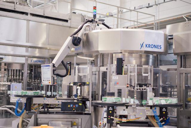 A Krones palackozó gépsor