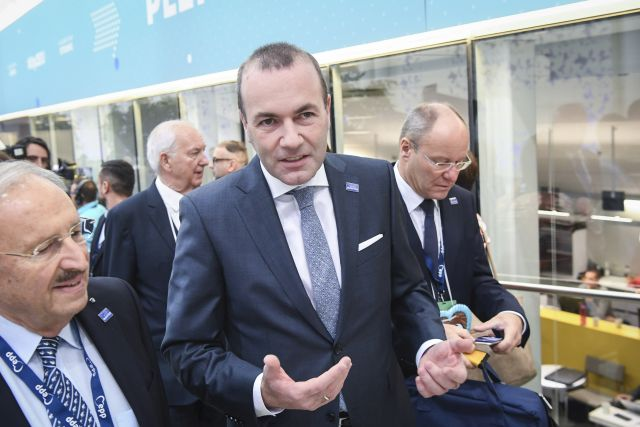 German MEP Manfred Weber (C) attends the 23rd European People's Party (EPP) Congress in Helsinki, Finland, 08 November 2018. European conservative centre-right parties gathered in Helsinki on 07 and 08 November, to elect the lead candidate for the next European elections that will take place from 23 to 26 May 2019. Top candidates are German MEP Manfred Weber and Finland's former Prime Minister Alexander Stubb. EPA/KIMMO BRANDT