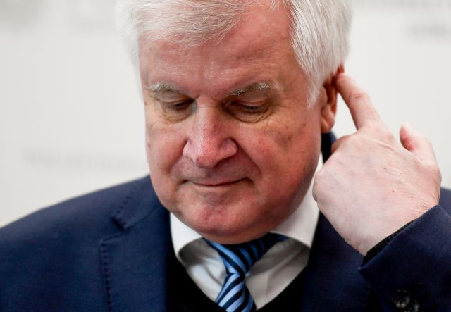 German Interior Minister and Christian Social Union (CSU) party chairman Horst Seehofer answers media questions as he visits joint tracking and competence center of the Federal Police and the Police of Saxony in Bautzen, Germany, 12 November 2018. According to media reports, Seehofer intends to step down as CSU party leader. EPA/FILIP SINGER