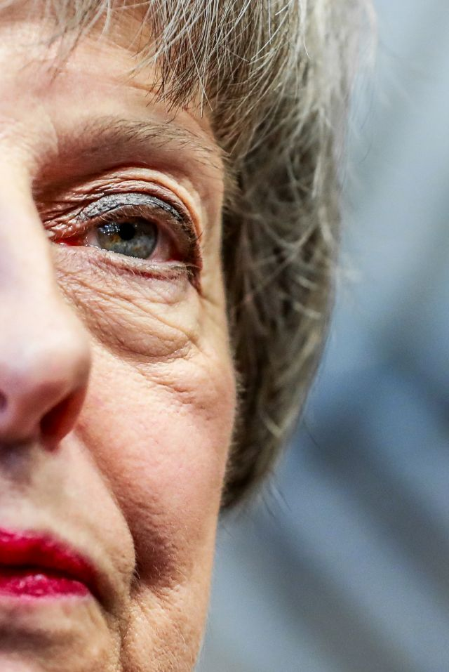 British Prime Minister Theresa May arrives at the European Council in Brussels, Belgium, 13 December 2018. EPA/STEPHANIE LECOCQ