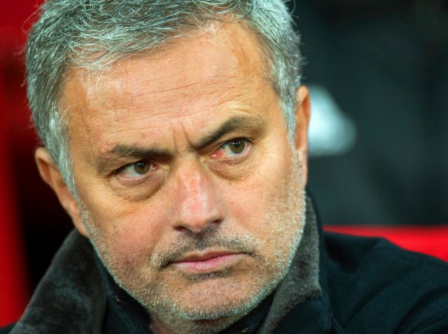 Manchester United manager Jose Mourinho reacts during the UEFA Champions League round of 16 second leg soccer match between Manchester United and Sevilla FC at Old Trafford in Manchester, Britain, 13 March 2018. Mourinho was sacked by Manchester United 18 December 2018. EPA/PETER POWELL