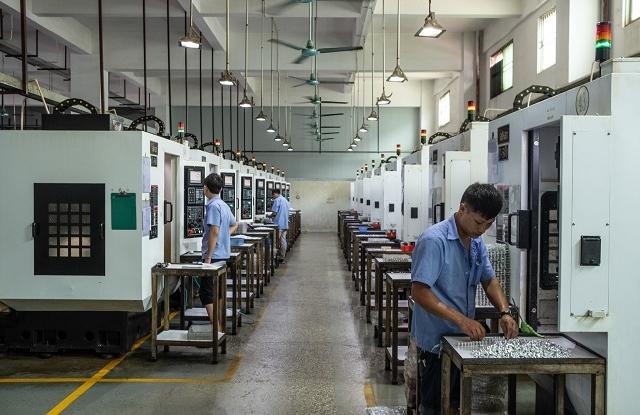 A Quankang egyik gyártócsarnoka belülről. (Fotó: New York Times)