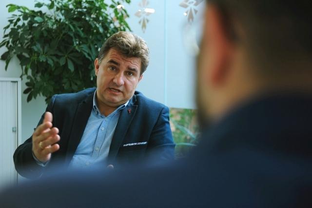 Berkes Tibor, a Mastercard üzletfejlesztési és értékesítési vezetője. Fotó: Izsó Márton / Privátbankár.hu