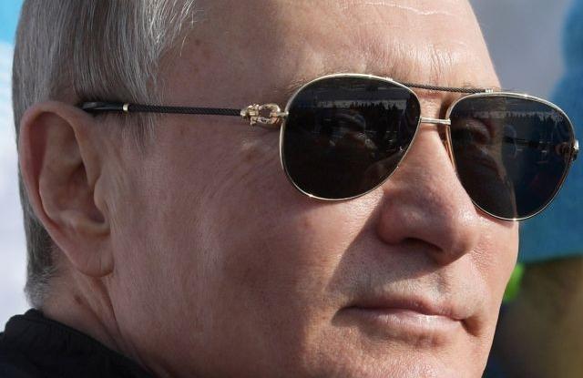 Russian President Vladimir Putin attends the cross country skiing during the 29th Winter Universiade in Krasnoyarsk, Russia, 03 March 2019. The 29th Winter Universiade takes in Krasnoyarsk place from 02 to 12 March 2019. EPA/ALEXEI DRUZHININ / SPUTNIK /
