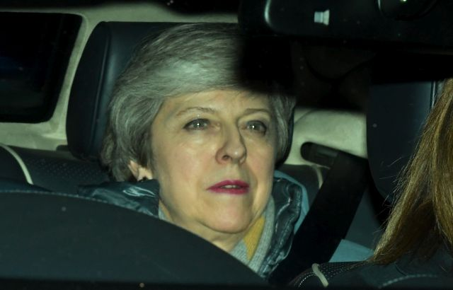 British Prime Minister, Theresa May leaves Houses of Parliament in London, Britain, 12 March 2019. British parliament voted with 391 to 242 vote against British Prime Minister May's amended Brexit deal. Theresa May wanted parliament to back her 'improved' withdrawall agreement she has negotiated with the EU over the so-called 'backstop'. The United Kingdom is officially due to leave the European Union on 29 March 2019, two years after triggering Article 50 in consequence to a referendum. EPA/FACUNDO ARRIZABALAGA