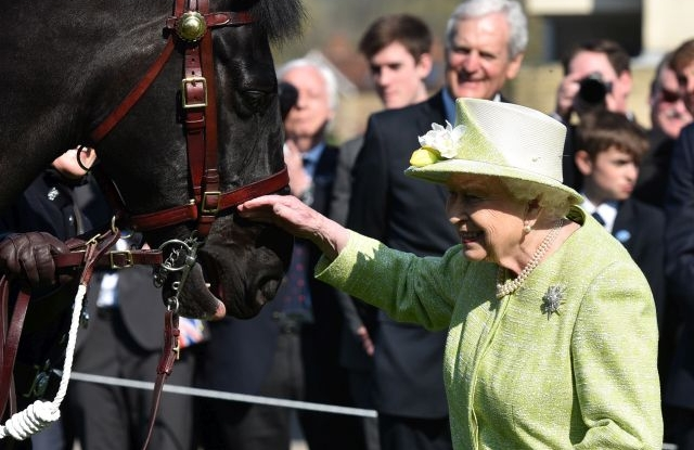 Britain's Elizabeth II visits King's Bruton School, Plox, Bruton, in Somerset, Britain, 28 March 2019. The Queen visited King's Bruton, a coeducational school founded in 1519 to mark 500 years of the School, Her Majesty will officially open the School's new Music Centre, situated at the heart of the historic campus. EPA/NEIL MUMMS
