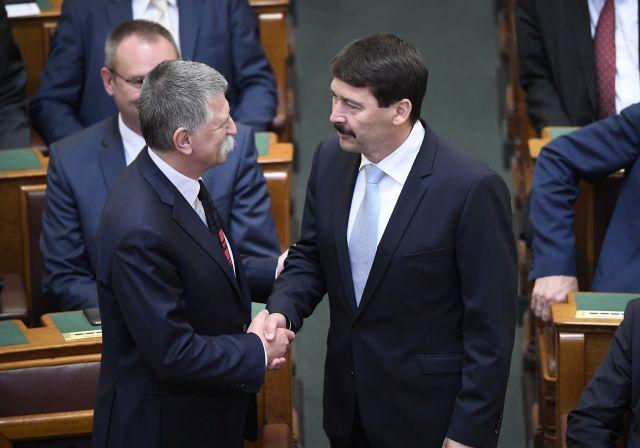 Kövér László és Áder János (Fotó: MTI Fotó, Kovács Tamás)