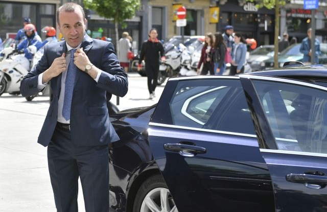 Manfred Weber of European People's Party and Candidate for next president of the European Commission arrives at an EPP leader meeting ahead of a special EU summit in Brussels, Belgium, 28 May 2019. Two days after the European Parliament elections, EU heads of state or government will gather for a summit to discuss the outcome of the vote and start the nomination process for the heads of the EU institutions. EPA/SASCHA STEINBACH