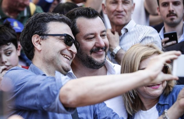 Italian Deputy Premier and Interior Minister Matteo Salvini (C) attends the Republic Day 'Festa della Repubblica' celebrations in Rome, Italy, 02 June 2019. The anniversary marks the founding of the Italian Republic in 1946. EPA/ANGELO CARCONI epa07619790 Italian Deputy Premier and Interior Minister Matteo Salvini (C) attends the Republic Day 'Festa della Repubblica' celebrations in Rome, Italy, 02 June 2019. The anniversary marks the founding of the Italian Republic in 1946. EPA/ANGELO CARCONI