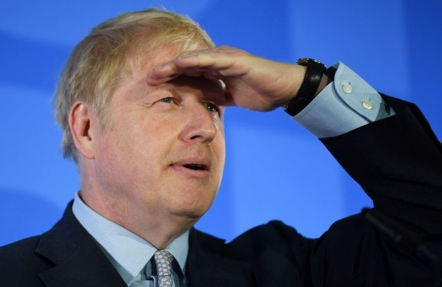 Boris Johnson gestures as he takes questions during the launch of his bid to become the leader of the Conservative Party in London, Britain, 12 June 2019. Conservative members of Parliament have launched leadership campaigns to replace the resigning Conservative Leader and Prime Minister. EPA/NEIL HALL