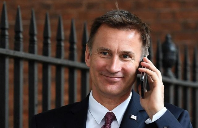 British Foreign Secretary Jeremy Hunt, and candidate in the Conservative leadership contest, after a cabinet meeting in London, Britain, 18 June, 2019. The contest to replace Theresa May as leader of the Conservative Party which officially began on 10 June moves into it's next phase on 18 June when the Conservative Members of Parliament vote in the second round of the leadership contest. EPA/ANDY RAIN