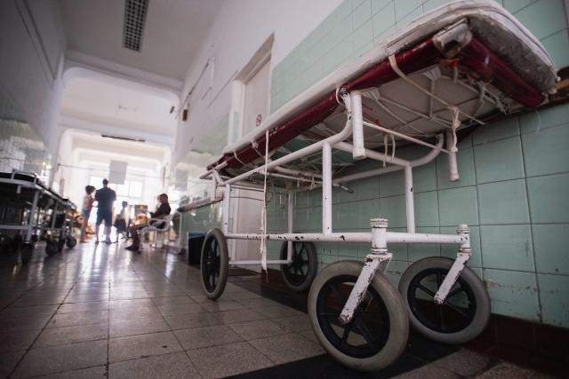 A budapesti Szent János Kórház egyik folyosója. MTI Fotó: Balogh Zoltán
