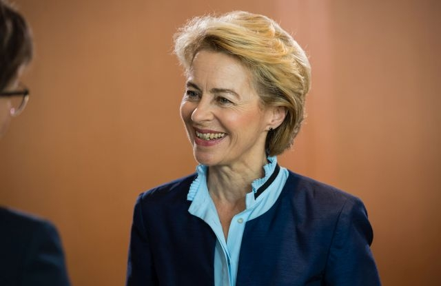 erman Defense Minister Ursula von der Leyen during a cabinet meeting at the Chancellery in Berlin, Germany, 26 June 2019 (reissued 02 July 2019). Reports on 02 July 2019 state the European Council has agreed on the future leaders of the EU institutions and has nominated German defence minister Ursula von der Leyen as European Commission president. EPA/JENS SCHLUETER