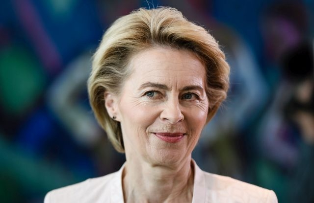 German Defense Minister Ursula von der Leyen at the beginning of a cabinet meeting at the Chancellery in Berlin, Germany, 03 July 2019. The previopus day, von der Leyen was surprisingly named as a candidate for the European Commission president. EPA/CLEMENS BILAN