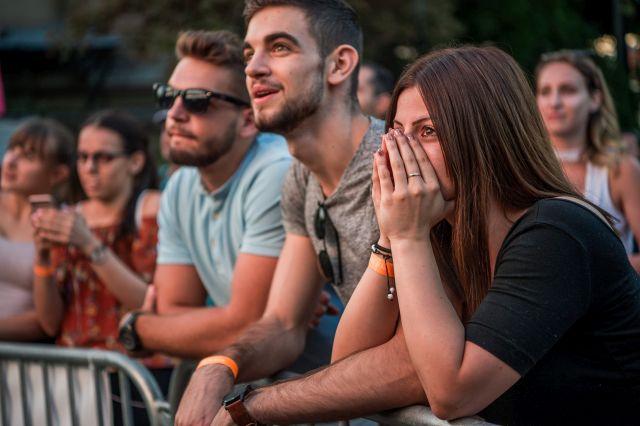 A tavalyi pontváró Pont Ott Parti. Akkor 108 ezer jelentkező várta, ki kerülhet be egyetemre, főiskolára. (MTI Fotó, Balogh Zoltán)