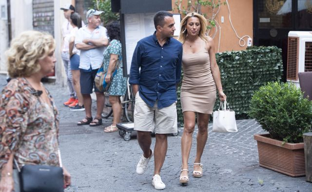 In the exclusive ANSA photo, the Vice President of the Council, Luigi Di Maio and his girlfriend Virginia Saba, return home after a lunch at the restaurant, Rome, 26 August 2019. Luigi Di Maio is the the Five Star party leader. Italian media reports on 26 August state the Lega party of Matteo Salvini may be in the process of offering Di Maio a prime minister's position in a possible future cabinet of Lega and Five Star. Five Star and Social Democratic party of Italy are currently also discussing a possible coalition government. EPA/Z85
