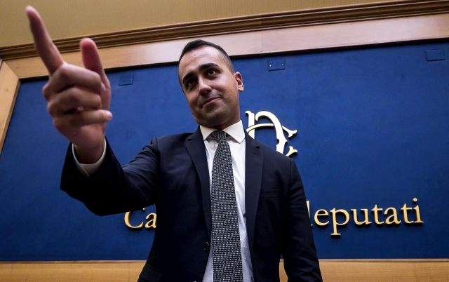 M5s leader Luigi Di Maio announces the results of online vote on 5 stars movement-Democratic party (Pd) alliance in a press conference in Rome, Italy, 03 September 2019. Grassroots members of the M5S on 03 September voted yes by 79.3 per cent to 20.7 per cent to form a government with the center-left Democratic Party. M5S leader Luigi Di Maio said he believed that 'the government crisis is now over and very proud of the government that is to come'. EPA/ANGELO CARCONI