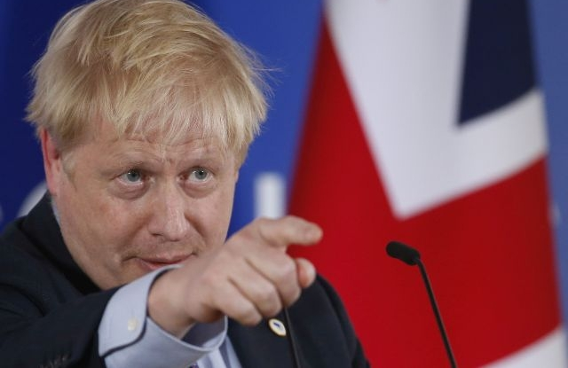 British Prime Minister Boris Johnson holds a news conference during a Brexit summit in Brussels, Belgium, 17 October 2019. According to reports, the EU and the British government have reached a deal for Brexit. EPA/JULIEN WARNAND
