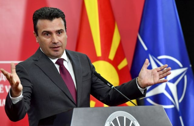 Macedonian Prime Minister Zoran Zaev addresses a press conference to announce early Parliamentary election, in Skopje, Republic of North Macedonia, 19 October 2018. Zaev called for early parliamentary elections a day after EU leaders delayed the decision for accession talks with North Macedonia and Albania for the third time as they gathered in Brussels for a two-day summit dominated by Brexit talks. EPA/GEORGI LICOVSKI